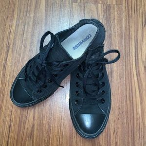 All Black Low Top Canvas